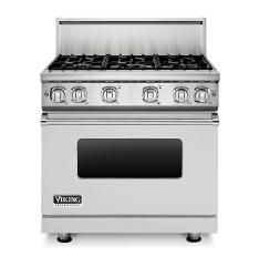 Brand: Viking, Model: VGR7366BBULP, Fuel Type: Stainless Steel, Natural Gas