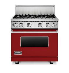 Brand: Viking, Model: VGR7366BAR, Fuel Type: Apple Red, Natural Gas