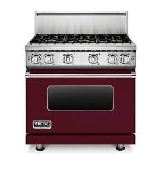 Brand: Viking, Model: VGR7366BAR, Fuel Type: Burgundy, Natural Gas