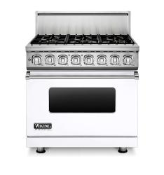 Brand: Viking, Model: VDR7366BWH, Fuel Type: White, Natural Gas