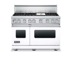 Brand: Viking, Model: VGR7486GARLP, Color: White, Natural Gas