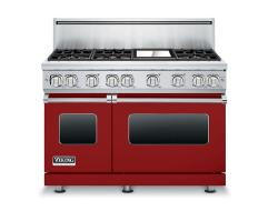 Brand: Viking, Model: VGR7486GCBLP, Color: Apple Red, Natural Gas