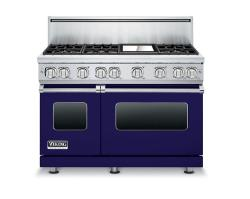 Brand: Viking, Model: VGR7486GARLP, Color: Cobalt Blue, Liquid Propane