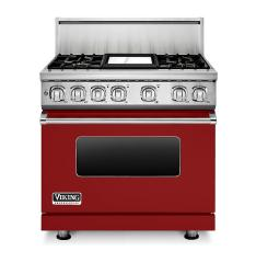 Brand: Viking, Model: VDR7364GAR, Fuel Type: Apple Red, Natural Gas