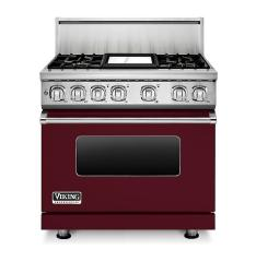 Brand: Viking, Model: VDR7364GAR, Fuel Type: Burgundy, Natural Gas
