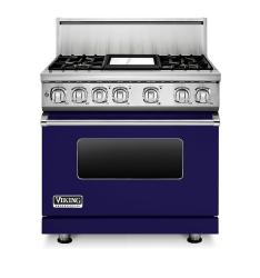 Brand: Viking, Model: VDR7364GGG, Fuel Type: Cobalt Blue