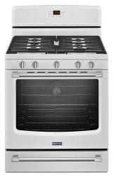Brand: Maytag, Model: MGR8700DH, Color: White with Silver Handle