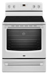 Brand: Maytag, Model: MER8700DS, Color: White with Silver Handle