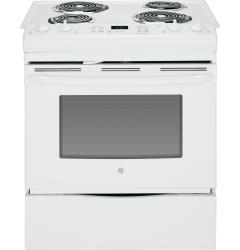 Brand: GE, Model: JS250DFWW, Color: White
