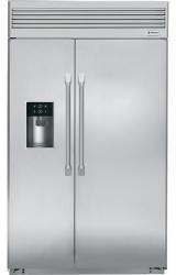 Brand: GE, Model: ZISP480DHSS, Style: 48 Inch Built-in Side by Side Refrigerator