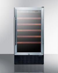 Brand: SUMMIT, Model: SWC1840X, Style: Stainless Steel Glass Door