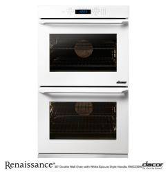 Brand: Dacor, Model: RNO230W, Style: White Glass with Epicure Style White Handle