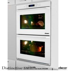 Brand: Dacor, Model: DTO230, Style: White Glass with Epicure Style White Handle
