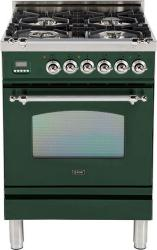 Brand: Ilve, Model: UPN60DVGGIX, Color: Emerald Green