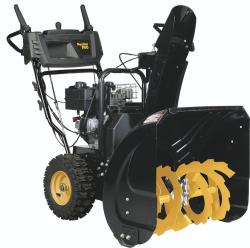 Brand: POULAN PRO, Model: PR241, Style: This compact two-stage, gas-powered Poulan Pro has a 24-inch clearing