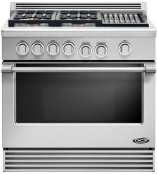 Brand: DCS, Model: RGV364GDL, Style: Stainless Steel, Natural Gas, Grill