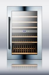 Brand: SUMMIT, Model: VC60D, Style: 24 Inch Fully Integrated Dual-Zone Wine Cellar