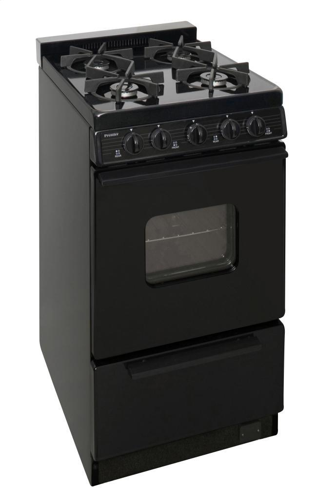 Premier 20 Inch Freestanding Cordless Gas Range With 4