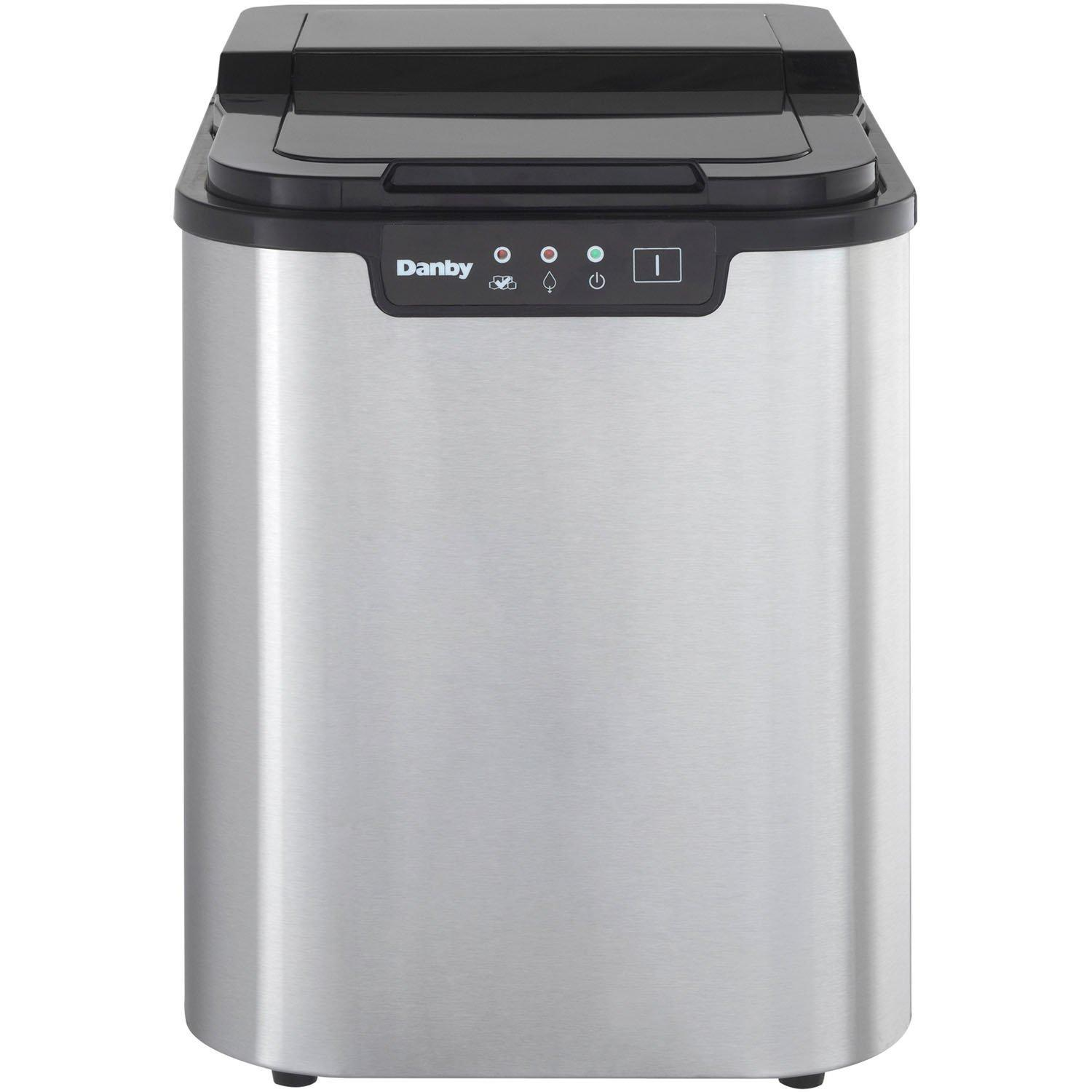 Danby Countertop Ice Maker Stainless Steel : DIM2500SSDB Danby dim2500ssdb Ice Makers Stainless Steel