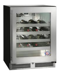 Brand: PERLICK, Model: HA24WB33L, Style: Stainless Steel-Glass, Left Hinge Door Swing