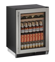 Brand: U-Line, Model: U1024BEVS00A, Style: 24 Inch Built-in Beverage Center