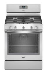 Brand: Whirlpool, Model: WFG540H0EB, Color: White with Silver Handle