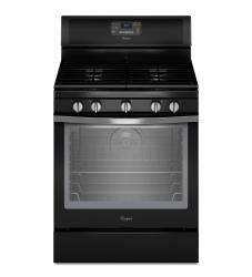 Brand: Whirlpool, Model: WFG540H0E, Color: Black with Silver Handle