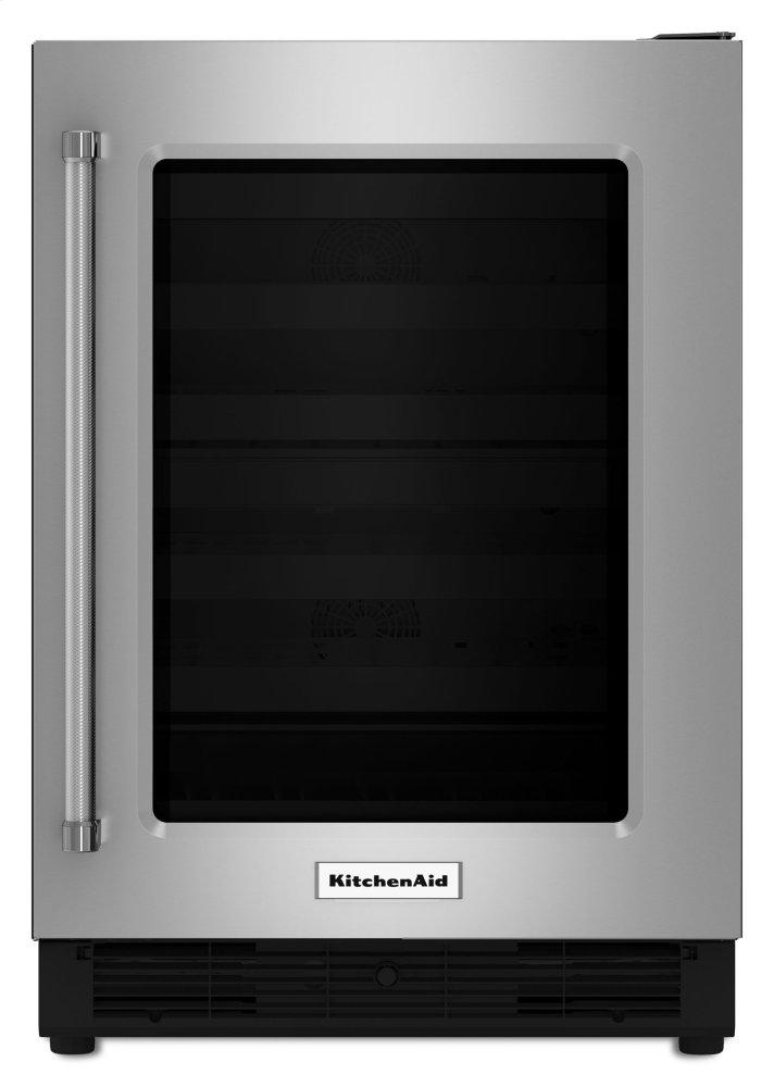 Kitchenaid 24 Inch Stainless Steel With Glass Door