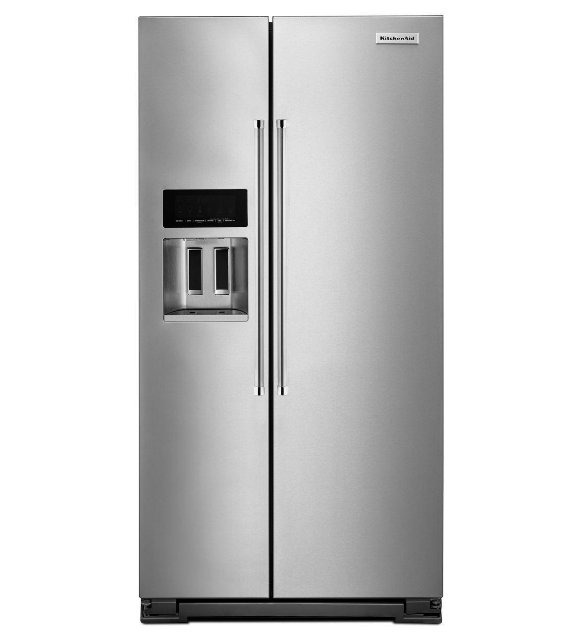 Kitchenaid Black Stainless Steel Side By Side Refrigerator: Side By Side Refrigerators