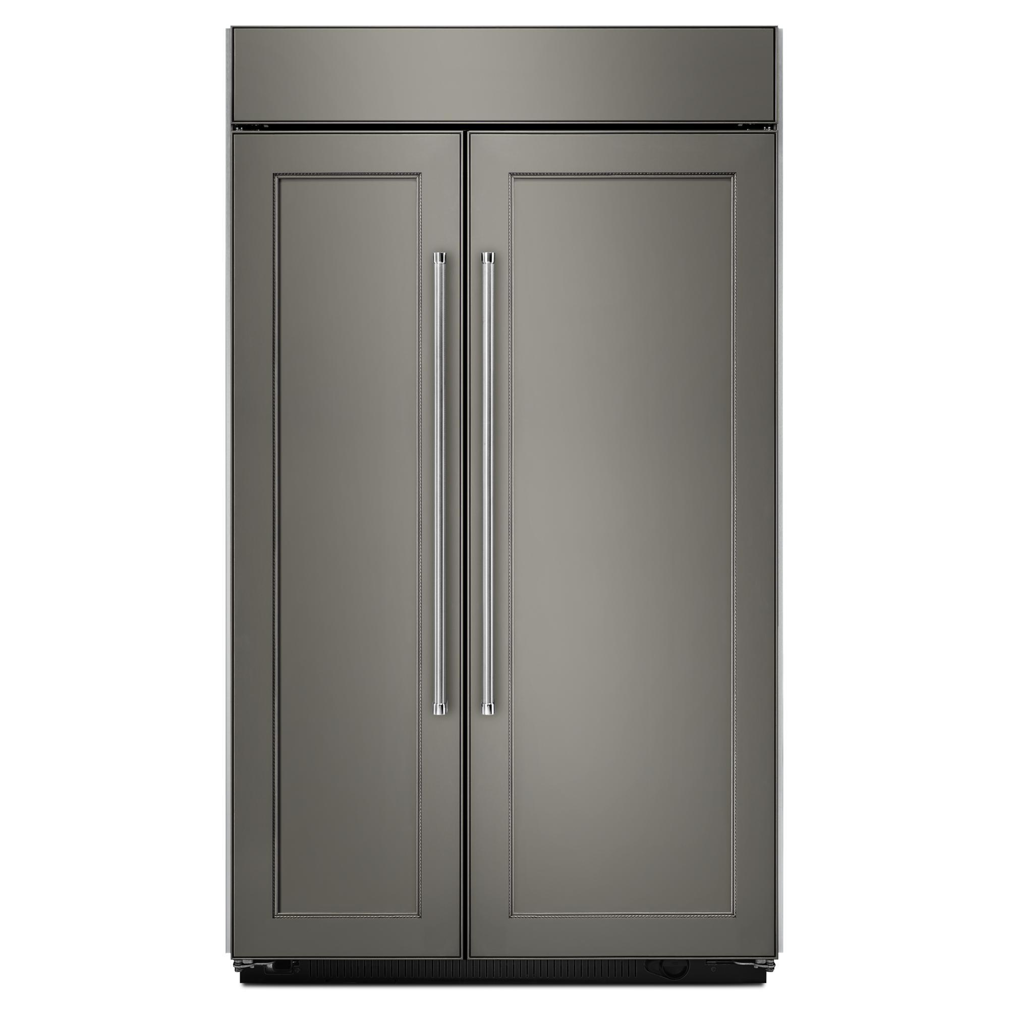 Shop Kitchenaid 24 8 Cu Ft Side By Side Refrigerator With: Side By Side Refrigerators