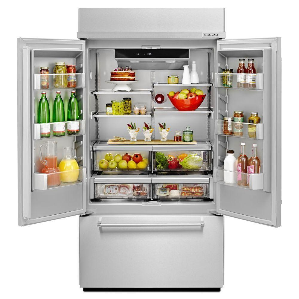 Kitchenaid 24 2 Cu Ft French Door Refrigerator With 4