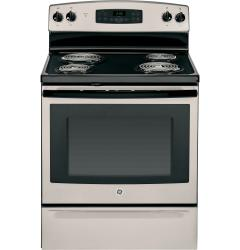 Brand: GE, Model: JB255, Color: Silver with Black accents