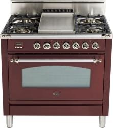 Brand: Ilve, Model: , Color: Burgundy, Chrome Trim