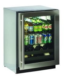 Brand: U-LINE, Model: U1075BEVS00, Color: Stainless Steel, Field Reversible Door