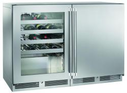 Brand: PERLICK, Model: HP48WWS32L4R, Style: Left Glass Stainless Steel, Right Solid Stainless Steel