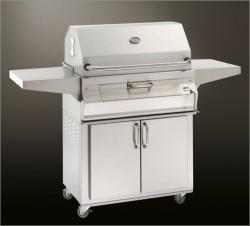 Brand: Fire Magic, Model: 22SCHARCOAL, Style: Freestanding, Smoker Hood, Stainless Steel Cooking Grids