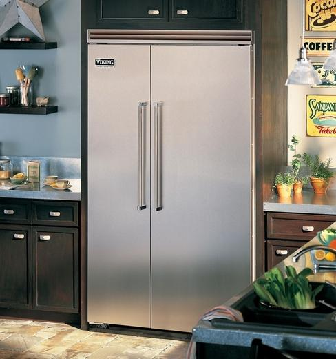 Viking 48 Inch Built In Side By Side Refrigerator With 29