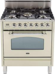 Brand: Ilve, Model: UPN76DVGGRB, Color: Antique White, Chrome Trim