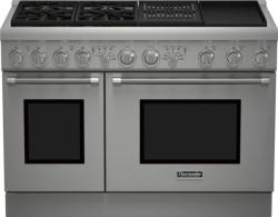 Brand: THERMADOR, Model: PRD484NCHU, Style: 48 Inch Pro-Style Dual Fuel Range