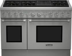 Brand: THERMADOR, Model: PRD486NLHU, Style: 48 Inch Pro-Style Dual Fuel Range
