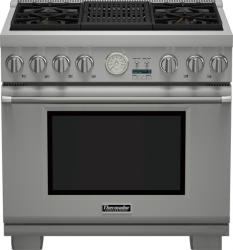 Brand: THERMADOR, Model: PRD364NLGU, Style: 36 Inch Pro-Style Dual Fuel Range