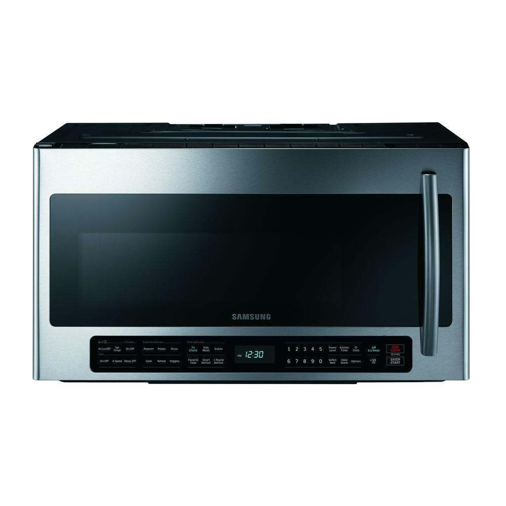Samsung Me21h706mqg 2 1 Cu Ft Over The Range Microwave