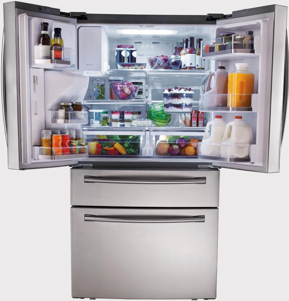 Samsung Rf31fmesbsr 29 1 Cu Ft French Door Refrigerator