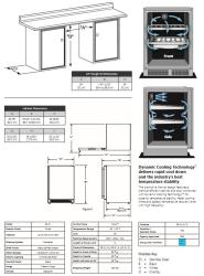Marvel ML24RAP3LP 24 Inch Built-in Refrigerator with 2
