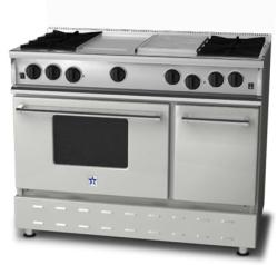 Brand: Bluestar, Model: RNB484GCBV2LP, Fuel Type: Liquid Propane