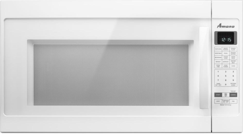 Amana 2 0 cu ft over the range microwave in white with sensor - Amv6502reb Amana Amv6502reb Over The Range Microwaves