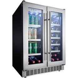 Brand: DANBY, Model: DBC047D3BSSPR, Style: 24 Inch Built-In French-Door Beverage Center