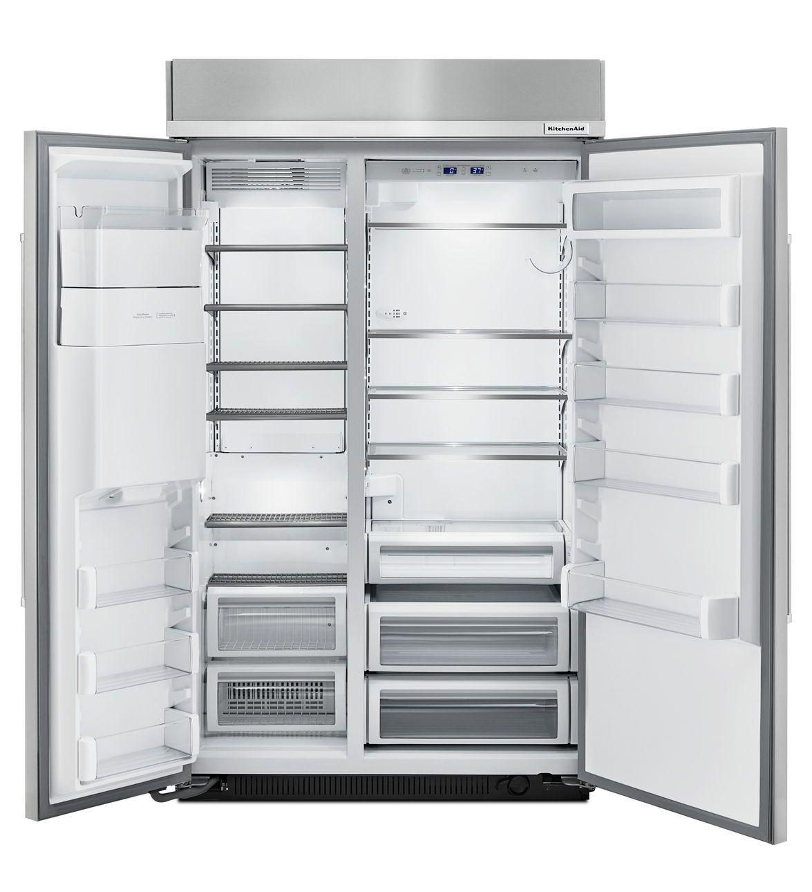 Kitchenaid 48 Inch Built In Side By Side Refrigerator With