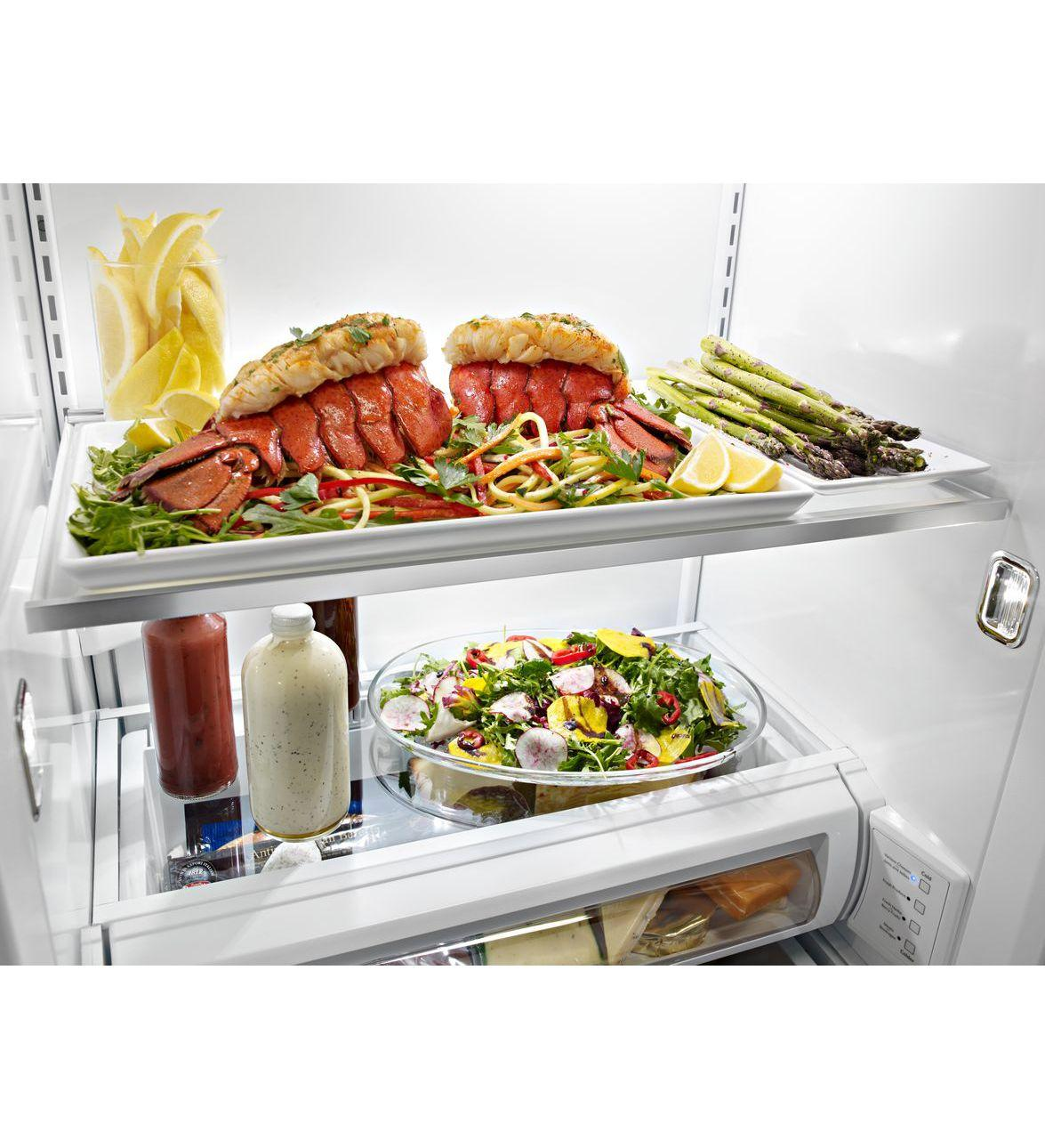 Kitchenaid Kbsd608ebs 29 5 Cuft Black Stainless Steel 2: Side By Side Refrigerators