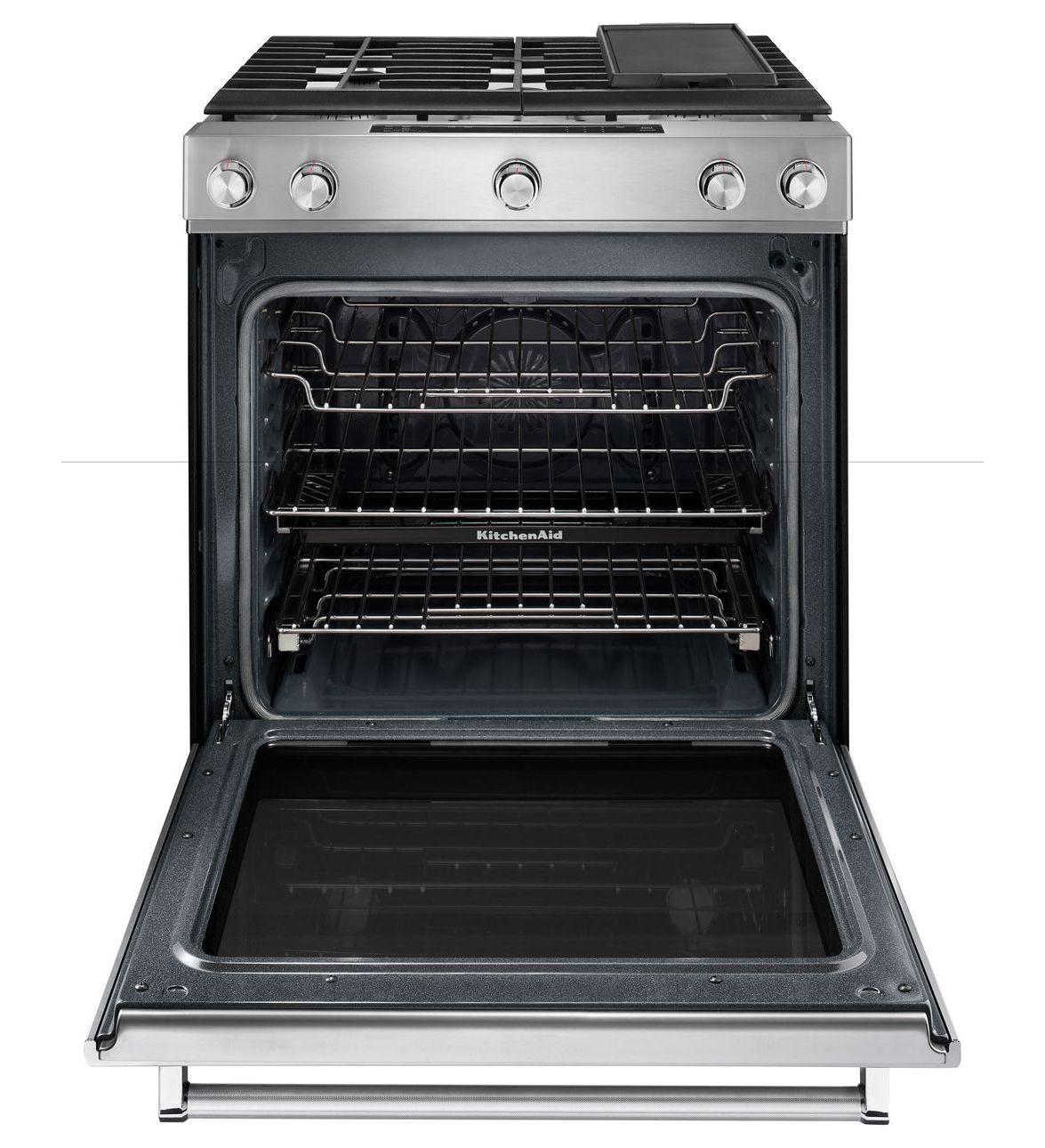 Ksgb900ess kitchenaid ksgb900ess gas slide in ranges - Kitchenaid gas range ...